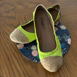Bright Yellow and Cork Lucky Brand Flats